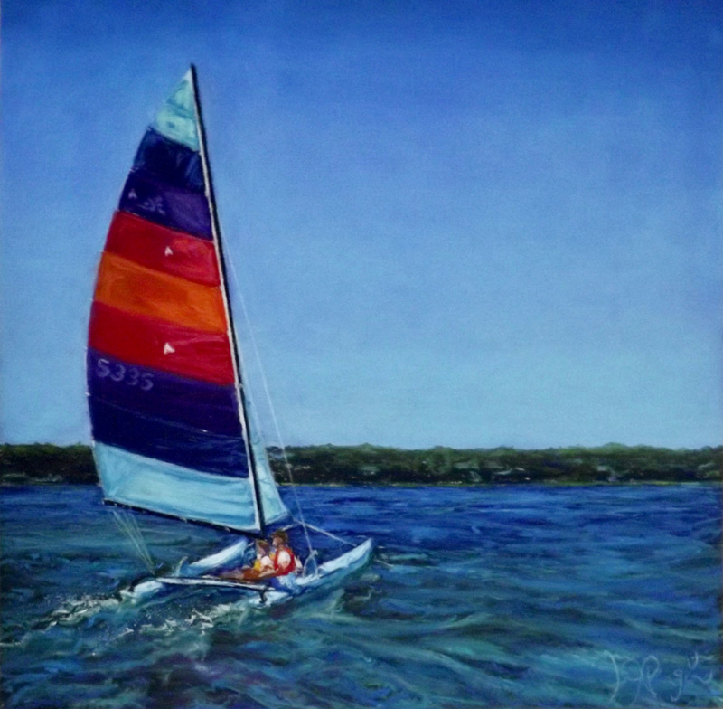 Hobie Cat Crossing the Bay