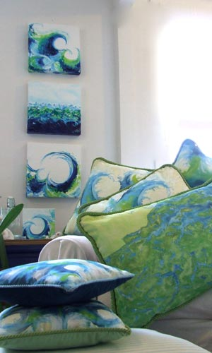 Hand Painted Pillows and Textiles
